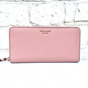 Kate Spade Large Soft Pink Continental Wallet